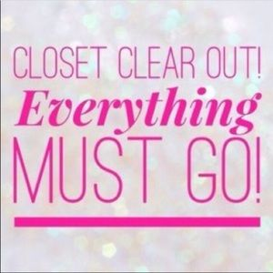 Everything must go! Closet clear out!